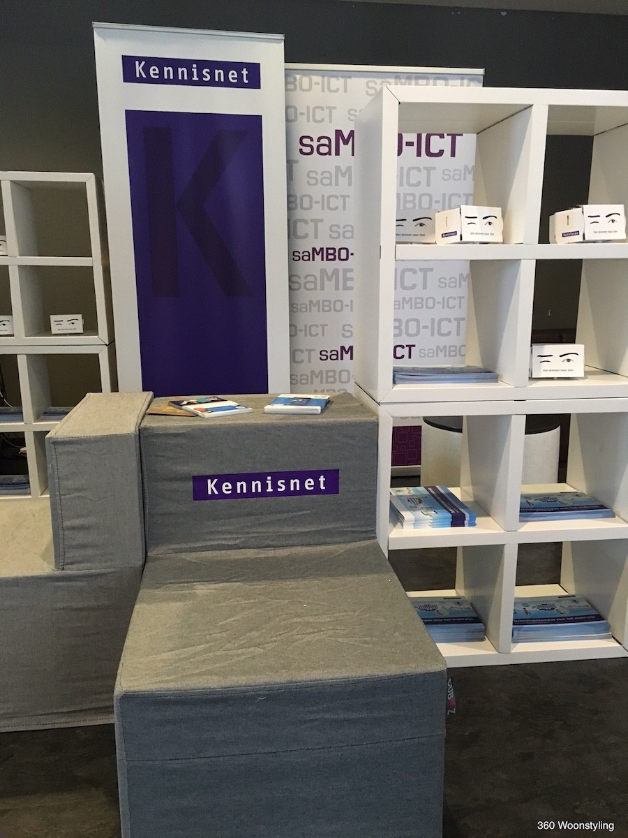 CUBIQZ cardboard furniture for EXPO-KENNISNET